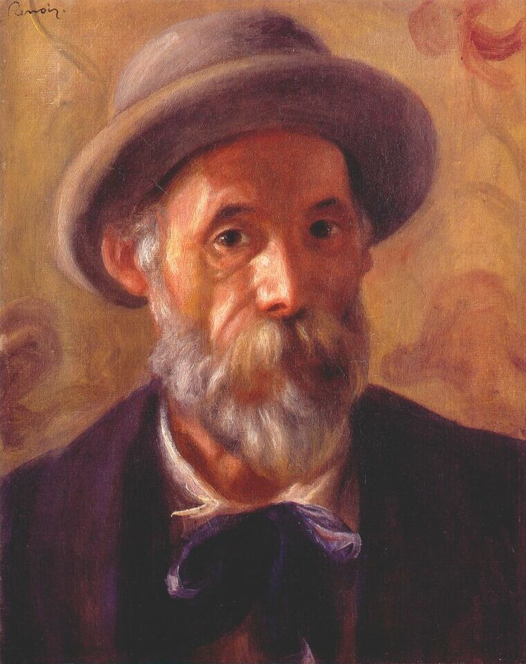 picasso self portrait 1899. renoir self portrait