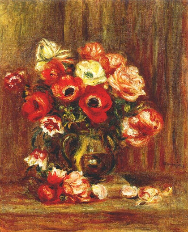 Auguste Renoir Still Life. renoir still life with