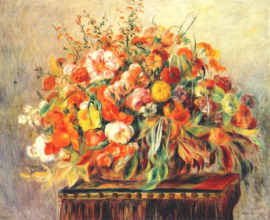 Auguste Renoir Still Life. renoir still life with flowers
