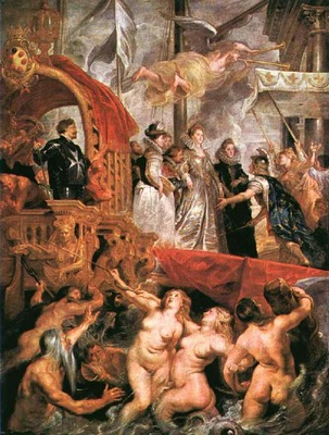 Rubens Marie Arrives at Marseilles, 1621 1625, Louvre