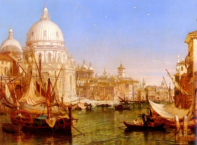 selous Henry Courtney A View Along The Grand Canal With Santa Maria Della Salute