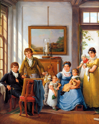 Strij van Abraham Hendrik Weymans and his family detail Sun