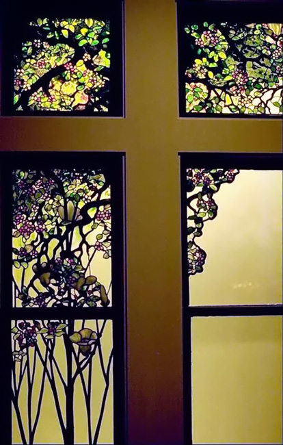 Tiffany Apple Blossom and Magnolia Window