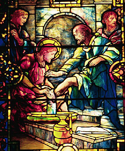 Tiffany Jesus Washing the Feet of the Disciples