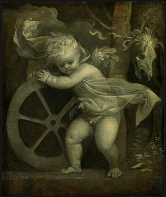 TIZIANO CUPID WITH THE WHEEL OF FORTUNE, C  1520, NGW