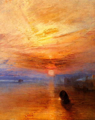 Turner Joseph Mallord William The fighting Temeraire tugged to her last Berth to be broken up d