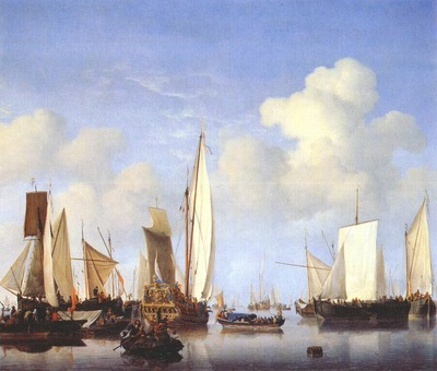 velde the younger a states yacht and other ships c1658