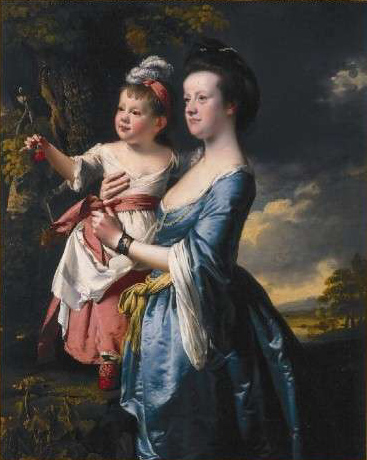 Wright Portrait of Sarah Carver and her daughter Sarah