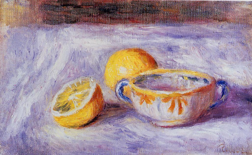 Auguste Renoir Still Life. Still Life with Lemons