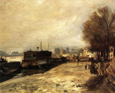 laundry boat by the banks of the seine near paris 1872
