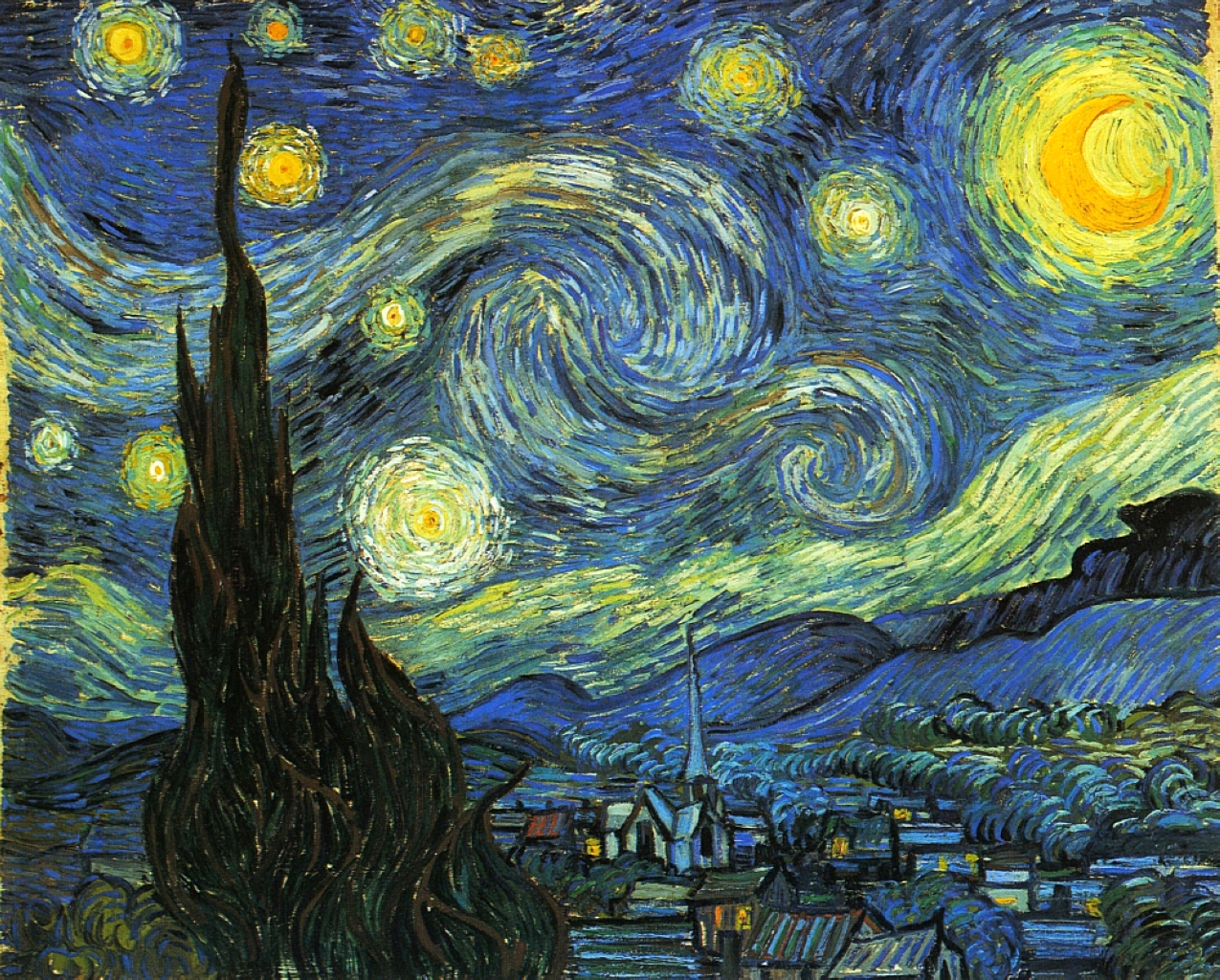 starry night Vincent van Gogh 1853 1890 Artists