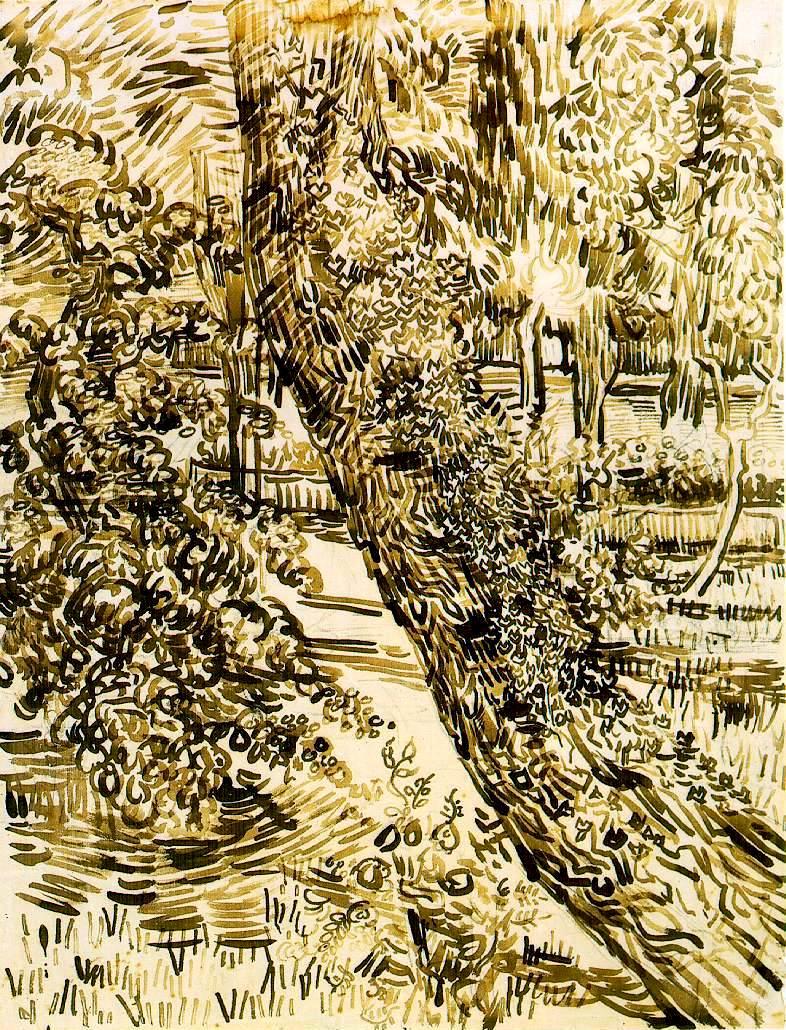 Tree with Ivy in the Asylum Garden « Vincent van Gogh (1853-1890 ...