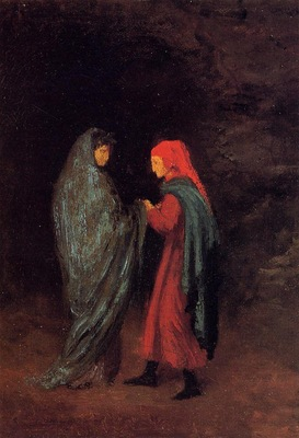 Dante and Virgil at the Entrance to Hell 1857 1858 PC