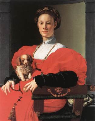 Bronzino Portrait of a Lady with a Puppy
