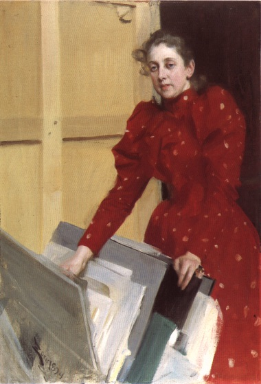 Zorn Portrait of Emma Zorn in the Paris studio