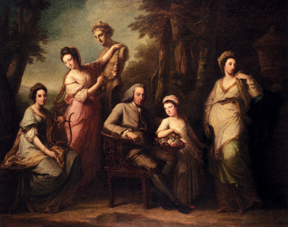Angelica Kauffmann - Page 3 Kauffmann-Angelica-Portrait-Of-Philip-Tisdal-With-His-Wife-And-Family
