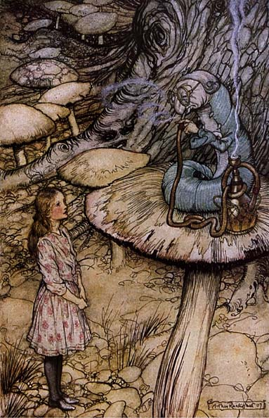 Rackham Arthur Alice in Wonderland The Rabbit Sends in a Little Bill