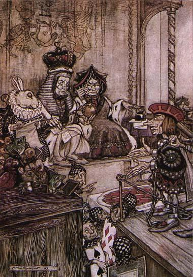 Rackham Arthur Alice in Wonderland Who Stole the Tarts
