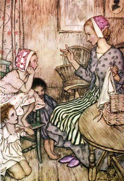 Rackham Arthur Goblin Market Laura would call the little ones