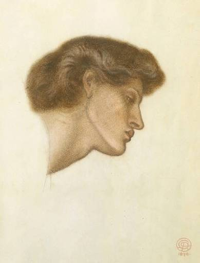 Rossetti Dante Gabriel Dante s Dream at the Time of the Death of Beatrice study