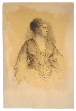 Johnson Eastman Portrait Of A Woman