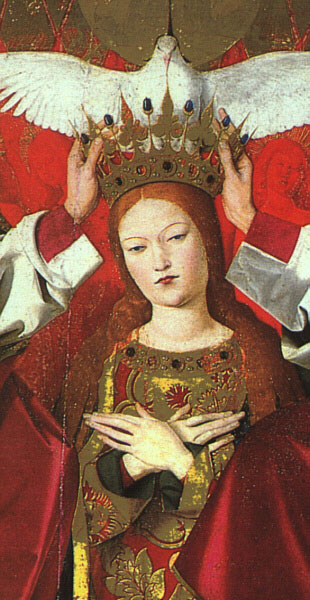 CHARONTON Enguerrand The Coronation Of The Virgin Detail The Virgin