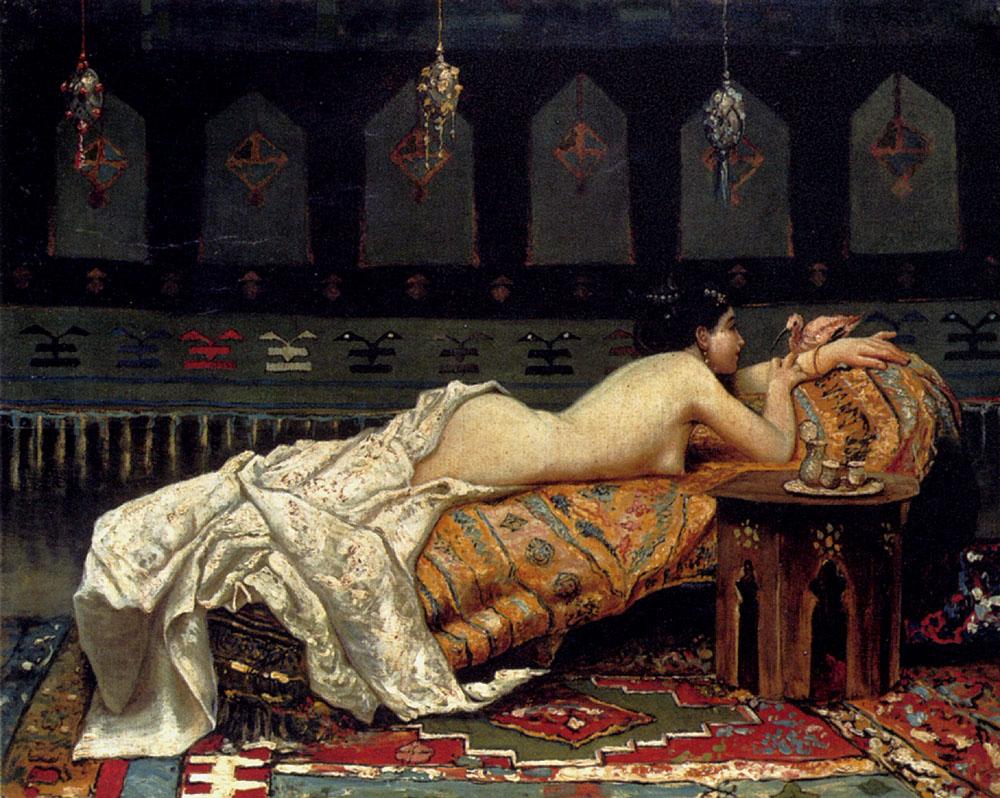 Les odalisques en peinture Michetti-Francesco-Paolo-Odalisque