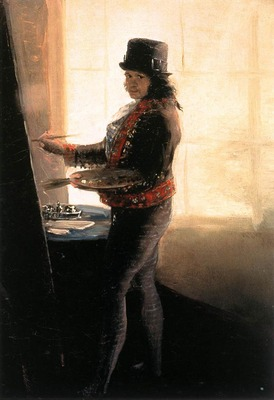 GOYA Francisco de Self Portrait in the Workshop