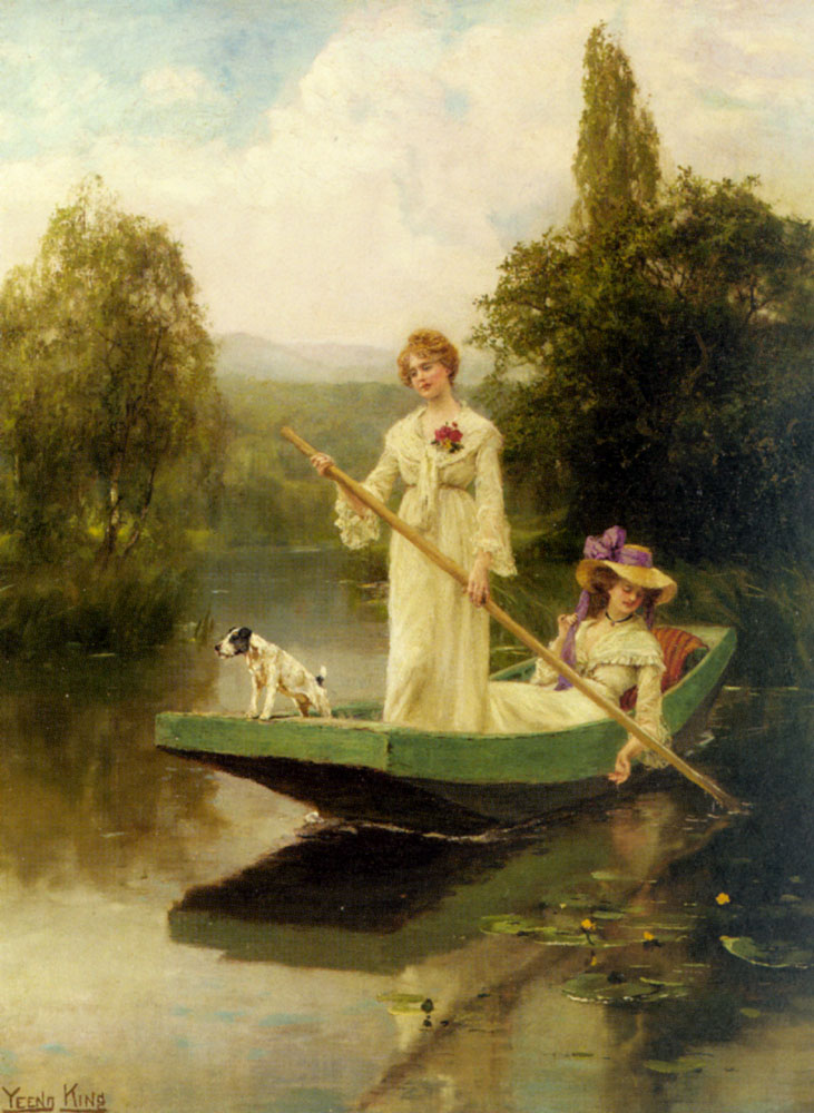 дама с собакой в лодке