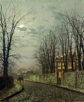 Grimshaw Atkinson A Wintry Moon