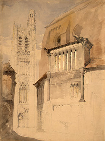 ruskin john tower of the cathedral at sens c