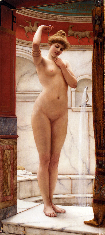 Godward John William A Pompeian Bath