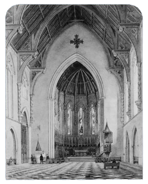 Hill John William Chancel Of Trinity Chapel New York