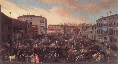 HEINTZ Joseph the Younger The Bull Hunt In Campo San Polo