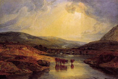Turner Joseph Mallord William Abergavenny Bridge Monmountshire clearing up after a showery day