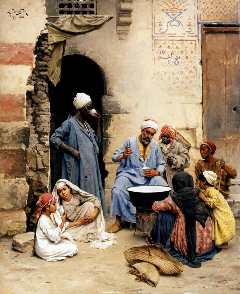 Deutsch Ludwig The Sahleb Vendor Cairo «Ludwig Deutsch (1855-1935 ...