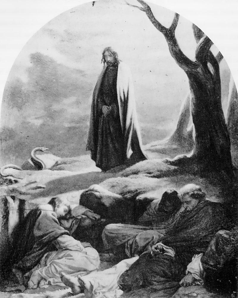 Christ in the garden of gethsemane paul delaroche 1797 - Jesus in the garden of gethsemane ...