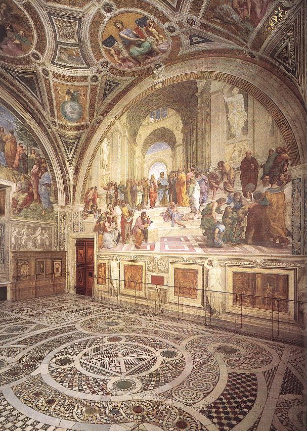 Raphael View of the Stanza della Segnatura « Raphael (1483 ...