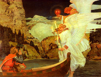 Waugh Frederick Judd The Knight Of The Holy Grail