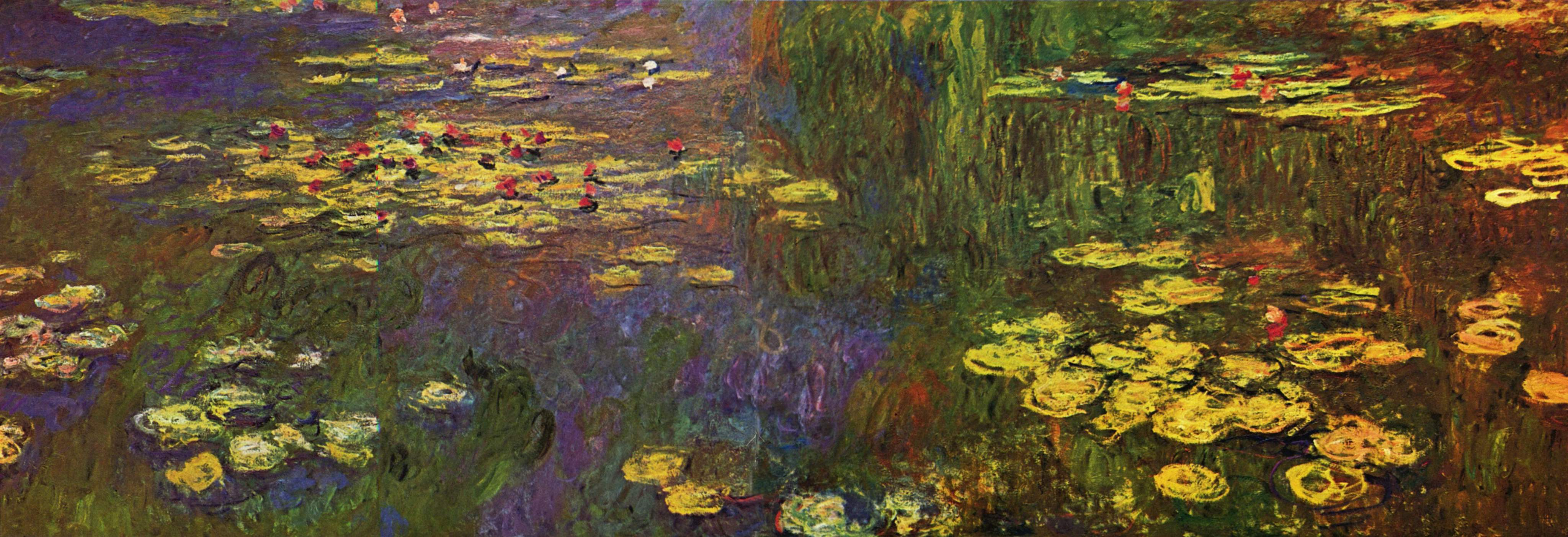 an analysis of monets series waterlilies green reflections
