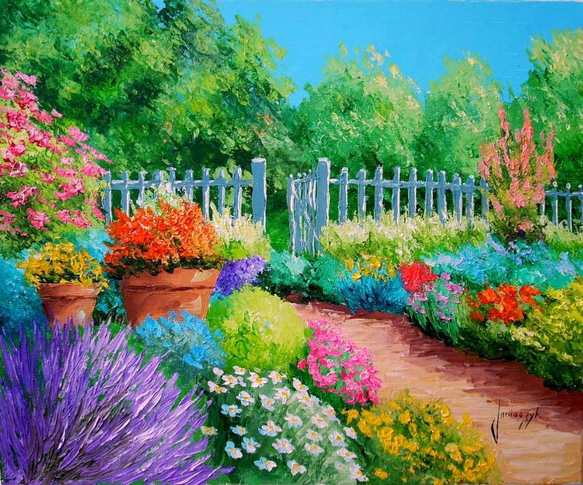 flowers jean marc janiaczyk - Simple Flower Garden Paintings