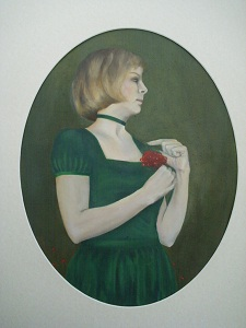 Lady with rowan berries