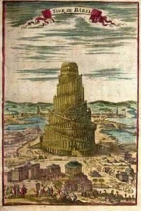 Alain Manesson Mallet  1630-1706   -  The Tower of Babel