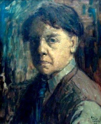 Edmond van Offel  1871 - 1959  Self portrait